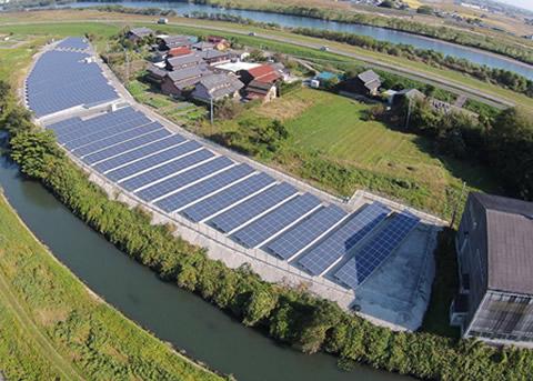岐阜県安八郡輪之内町太陽光発電所